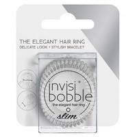 Invisibobble Slim Crystal Clear - Резинка-браслет для волос с подвесом (прозрачный) 3 шт