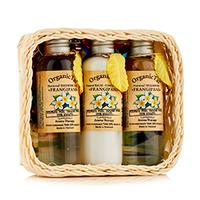 Organic Tai Kit - Набор (натуральный шампунь для волос «франжипани» 120 мл,натуральный бальзам-кондиционер «франжипани» 120 мл,натуральный гель для душа «франжипани» 120 мл)