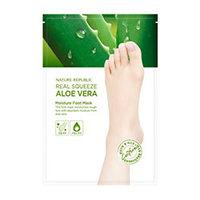 Nature Republic Real Squeeze Aloe Vera Moisture Foot Mask - Маска для ног увлажняющая с экстрактом алоэ 16 мл