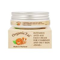 Organic Tai Cream - Интенсивный антивозрастной крем для комбинированной и жирной кожи лица «с экстрактом улитки» 50 мл