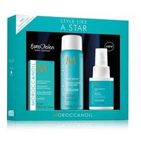 """Moroccanoil Style Like A Star Vm Option - Hабор """"звездная укладка"""" (спрей для объёма 50 мл; спрей для прикорневого объёма 75 мл; лёгкое восстанавливающее масло 25 мл)"""