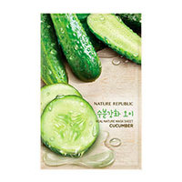 Nature Republic Real Nature Mask Sheet Cucumber - Маска для лица листовая 20 мл