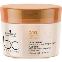 Schwarzkopf BC Bonacure Q10 Time Restore Taming Treatment - Смягчающая маска для волос 200 мл