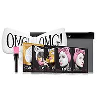 "Double Dare OMG Premium Package - Набор ""спа"" из 4 масок, кисти и белого банта-повязки"