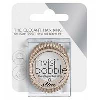 Invisibobble Slim Bronze Me Pretty - Резинка-браслет для волос с подвесом (мерцающий бронзовый) 3 шт
