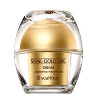 Seantree Snail Gold 24K Cream - Крем для лица с 24к золотом и экстрактом улитки 50 г