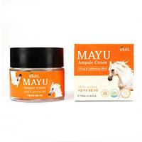 Ekel Mayu Ampoule Cream - Крем ампульный  для лица с лошадинным жиром 70 мл