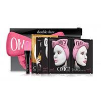 "Double Dare OMG Premium Package - Набор ""спа"" из 4 масок, кисти и ярко-розового банта-повязки"