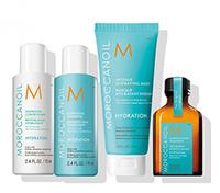 Moroccanoil Destination Hydrating Travel Kit - Дорожный набор увлажнение 240 мл( шампунь увлажняющий 70 мл; увлажняющий кондиционер 70 мл; интенсивно увлажняющая маска 75 мл; восстанавливающее масло 25 мл)