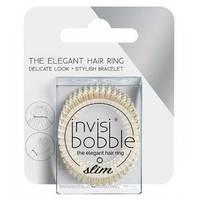 Invisibobble Slim Stay Gold - Резинка-браслет для волос с подвесом (золотистый) 3 шт