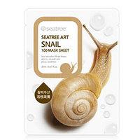 Seantree Snail 100 Mask Sheet - Маска для лица тканевая улиточная 20 мл