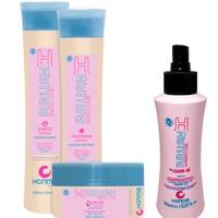 Honma Tokyo H-Brush Special Care - Набор для продления гладкости волос (шампунь 300 мл, кондиционер 300 мл, маска 300 мл, несмываемый кондиционер 150 мл)
