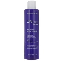 Selective On Care Tech Silver Power Shampoo - Серебряный шампунь для обесцвеченных или седых волос 250 мл