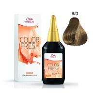 Wella Color Fresh - Оттеночная краска для волос 6/0 темный блонд натуральный 75 мл