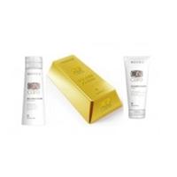 Selective On Care Tech Golden Power Shampoo, Golden Power Mask - Золотистый шампунь и маска для натуральных или окрашенных волос теплых светлых тонов 250 мл+ 200 мл