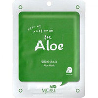 Mijin Cosmetics Care On Mask Pack Aloe - Маска тканевая с алоэ 22 г