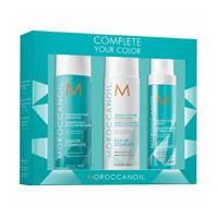 Moroccanoil Complete Your Color #2 - Набор для сохранения цвета волос (шампунь 250 мл, кондиционер 250 мл, спрей 160 мл)