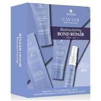 """Alterna Caviar Restructuring Bond Repair Consumer Trial Kit - Набор """"регенерация и мгновенное восстановление"""" (шампунь 40 мл, кондиционер 40 мл, сыворотку 7 мл, термозащитный спрей 25 мл)"""