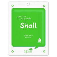 Mijin Cosmetics Care On Mask Pack Snail - Маска тканевая улиточная 22 г