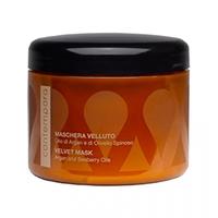 Barex Contempora Maschera Velluto Olio Di Argan E Di Olivello Spinoso - Разглаживающая маска «сияющий бархат» аргановое масло и масло облепихи 500 мл