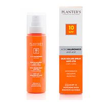 Planter's Solare Body-Hair Sunscreen Spray Oil SPF 10 - Масло солнцезащитное для волос и тела SPF 10 с гиалуроновой кислотой 100 мл