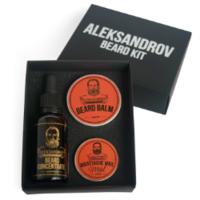 Aleksandrov Beard Kit №06 (Oil BC Glühwein, Balm Sunset, Wax Mild Sunset) - Набор для стимуляции роста бороды