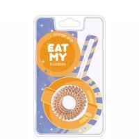 """EAT MY Bobbles Orange Pop - Резинки для волос """"апельсиновый леденец"""" 3 шт"""