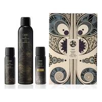 """Oribe Signature Dry Texturizing Set - Набор для волос """"Легендарные сухие спреи"""" (спрей лак-текстура 300 мл, спрей лак-текстура 75 мл, сухой шампунь """"Роскошь золота"""" 62 мл)"""