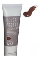 Lebel Color Prefal Cream - Крем-краска для волос W2 теплый средне-коричневый 140 гр