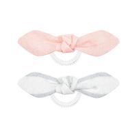 Invisibobble Bowtique Duo Nordic Breeze Summer Lemming Go - Резинка для волос (бежевый/розовый) 2 шт