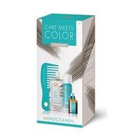 Moroccanoil Color Meets Care Platinum - Набор Тонир (тонирующая маска 30 мл; сух шампунь д/св волос 65 мл; масло для св волос; мини-расческа)