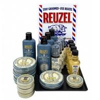 Reuzel Shave & Beard Intro 2020 - Набор для волос (бальзам для бороды 4 шт, пена для бороды 4 шт, лосьон после бритья 4 шт, мусс крем для бритья 4 шт, поднос 1шт)