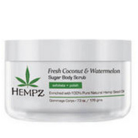 Hempz Fresh Coconut & Watermelon Sugar Body Scrub - Скраб для тела Кокос и Арбуз 176 гр