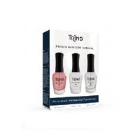 Trind French Manicure Red Set - Набор для французского маникюра (прозрачно-красный) 3 x 9 мл