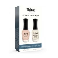 Trind Keratin Treatment Set - Набор для защиты и восстановления ногтей с кератином 2 x 9 мл