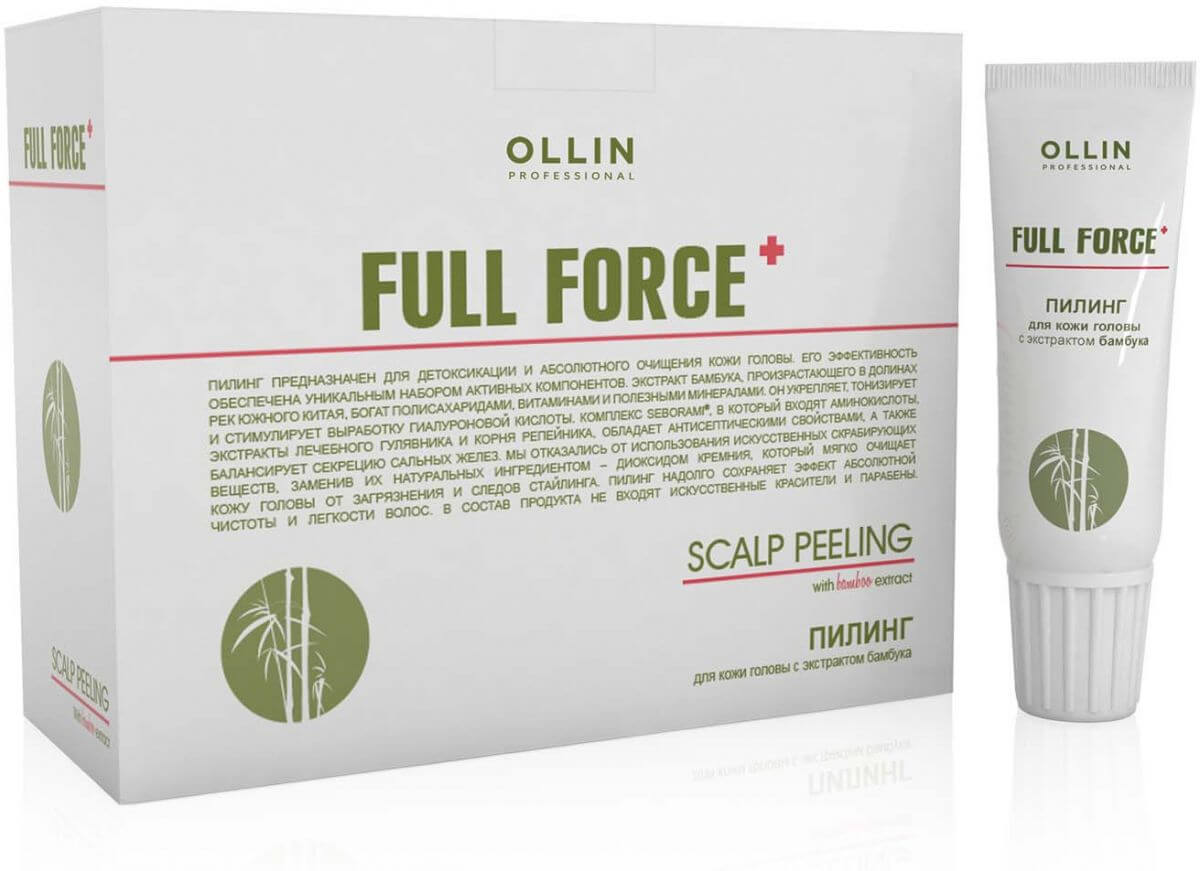 Ollin Full Force Scalp Peeling With Bamboo Extract