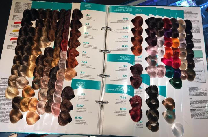 палитра цветов краски для волос от Капус