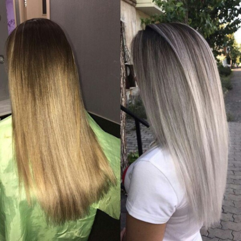 тонирование на русые волосы